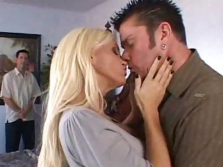Pretty blonde is banging with long prick