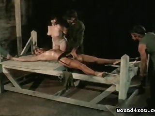 Kinky vintage bondage movie with naughty play
