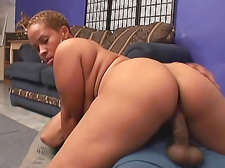 Black BBW filled by black cock