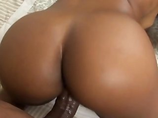 Nasty impressive black babe Envy Kenya figure out how to fuck with this black dong of Billy Banks