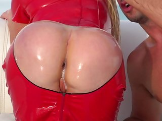 Slender Nikki Benz being pounded in her juicy asshole with a truly nice big dick on the camera