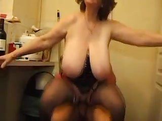 Huge tits french granny  hardcore fuck a guy