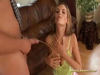 her first anal lesson