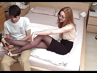 German  footjob Teen