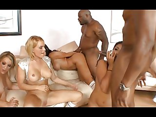 BBC vs cheerleader interracial group fuck 3