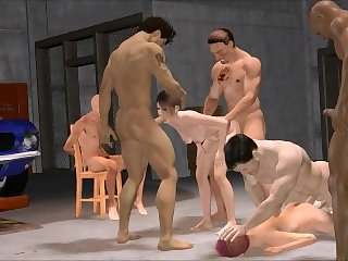 3D Garage Gang Bang Action