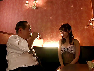 Kanako Ioka wears cute lingerie while riding a man's boner