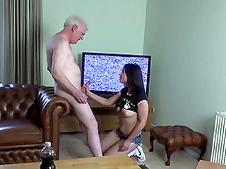 Beautiful Girl Likes to have sex with older men cocks