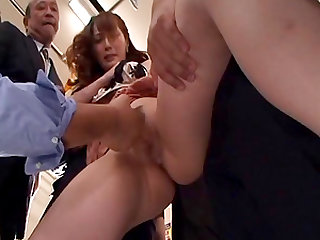 Touching slutty Asian women on the bus & fucking them deeply
