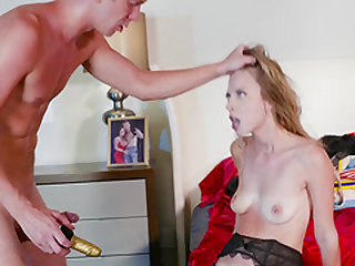 Pretty blonde Anya Olsen fucked well up her tight butt hole