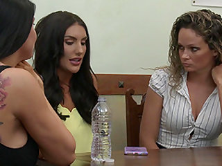 August Ames is curious about Ayumi Anime's tight pussy