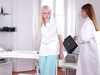 Cute medical workers are in need for a kinky lesbian session