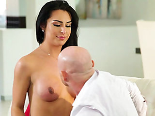Gorgeous Chanel Santini teases a fellow before a sex session