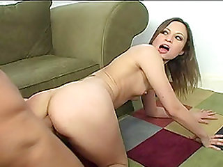 Foot fetish flexible babe with small tits banged doggystyle