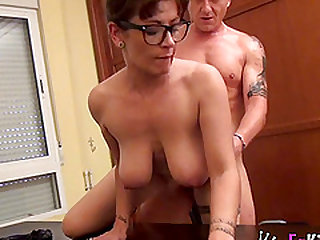 Nerdy chick opens her legs for a nice sexual experience