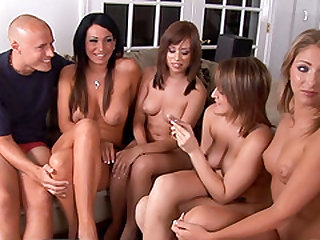 Connect Four joins hot babes for an amazing orgy session
