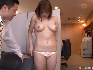 Japanese chick with perfect tits and her time with the horny guy