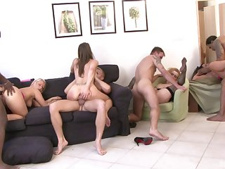 Massive penetration event for the hottest horny babes