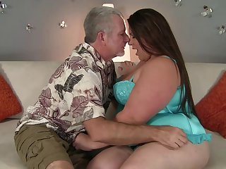 Chubby chick with the massive snatch getting banged by her partner