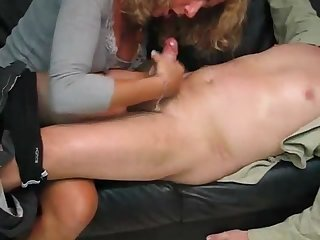 Amazing handjob and cleaning after