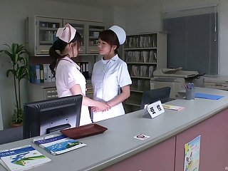 Nurses at the doctors office have lesbian sex after work
