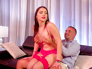 Valentina Nappi fucks a fortunate guy in front of a geeky chick