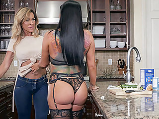 Romi Rain and Aubrey Black are horny MILFs ready for a lesbian game