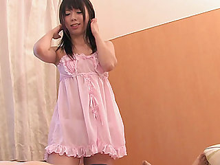 Sweet Japanese girl is curious about sucking a guy's dong