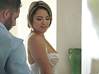 Stunning Alix Lovell seduced by a handsome lover for a fuck
