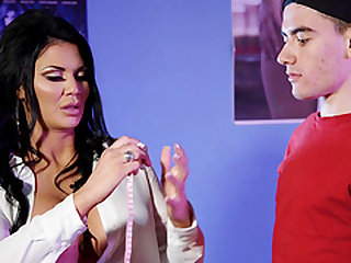 Jasmine Jae is interested in a fuck with a shy fellow