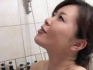 Bathroom fuck is all a kinky Japanese woman wants from her lover