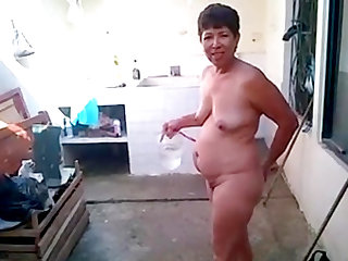 Brazilian Mother fucked in the yard