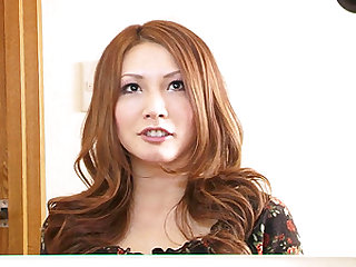Beautiful Japanese darling interviewed and looking so sexy