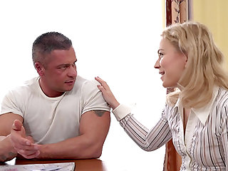 Blondie Ksenia Nubiles having her little cunt tongued and boned