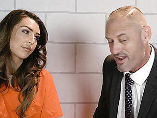 Attorney D. Arclyte fucking a shemale prisoner Chanel Santini