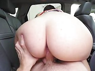 Intense back seat pussy fucking for big ass Scarlett Mae