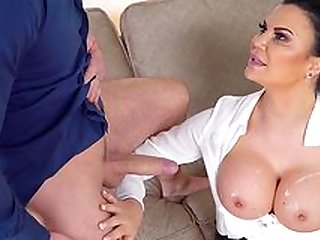Busty mature works magic on a younger dick