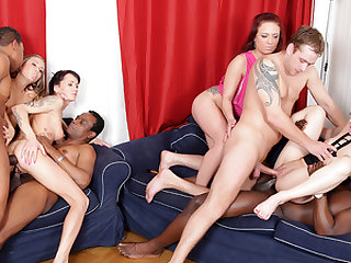 Four Frantic Floozies Take Four Sex Toys and Four Big Cocks Up Their Asses