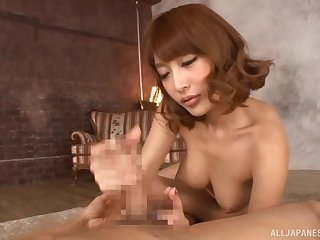 Kirara Asuka gets her dripping wet twat rammed in a style