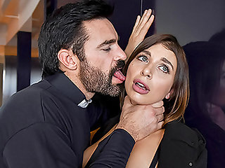 TOUGHLOVEX Ivy Lebelle rough sex with a priest