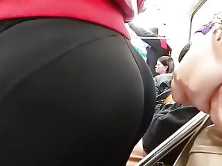 Hot butt in metro