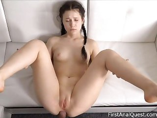 Braided brunette Nikki Hill Enjoys 1st Anal