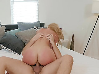 Mature blonde Savannah Bond gets rough fucked and choked doggy style