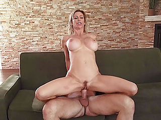 Hardcore blowjob and a rough pussy fuck with MILF pornstar Alexis Fawx