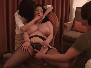 JAV BBW handcuffed sex play with Minako Komukai Subtitled