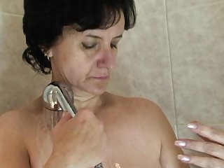 Girlfriends old mom gives head and rides his cock
