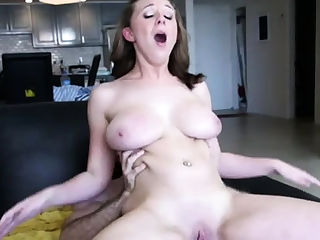 Hot maiden Brooke Wylde with curvy natural tits gets orgasm