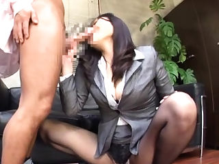 Beautiful oriental office honey gets sex experience