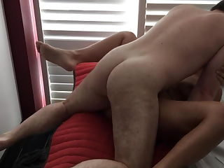 Wife cuckolds hubby in a hotel