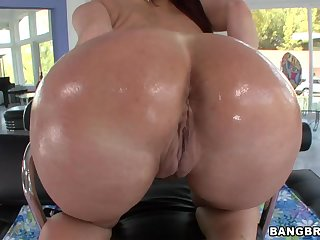 Rough Anal Sex With Tiffany Mynx's Oiled Up Ass